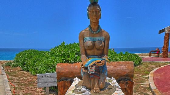 South Point of Isla Mujeres - Goddess Ixchel of fertility