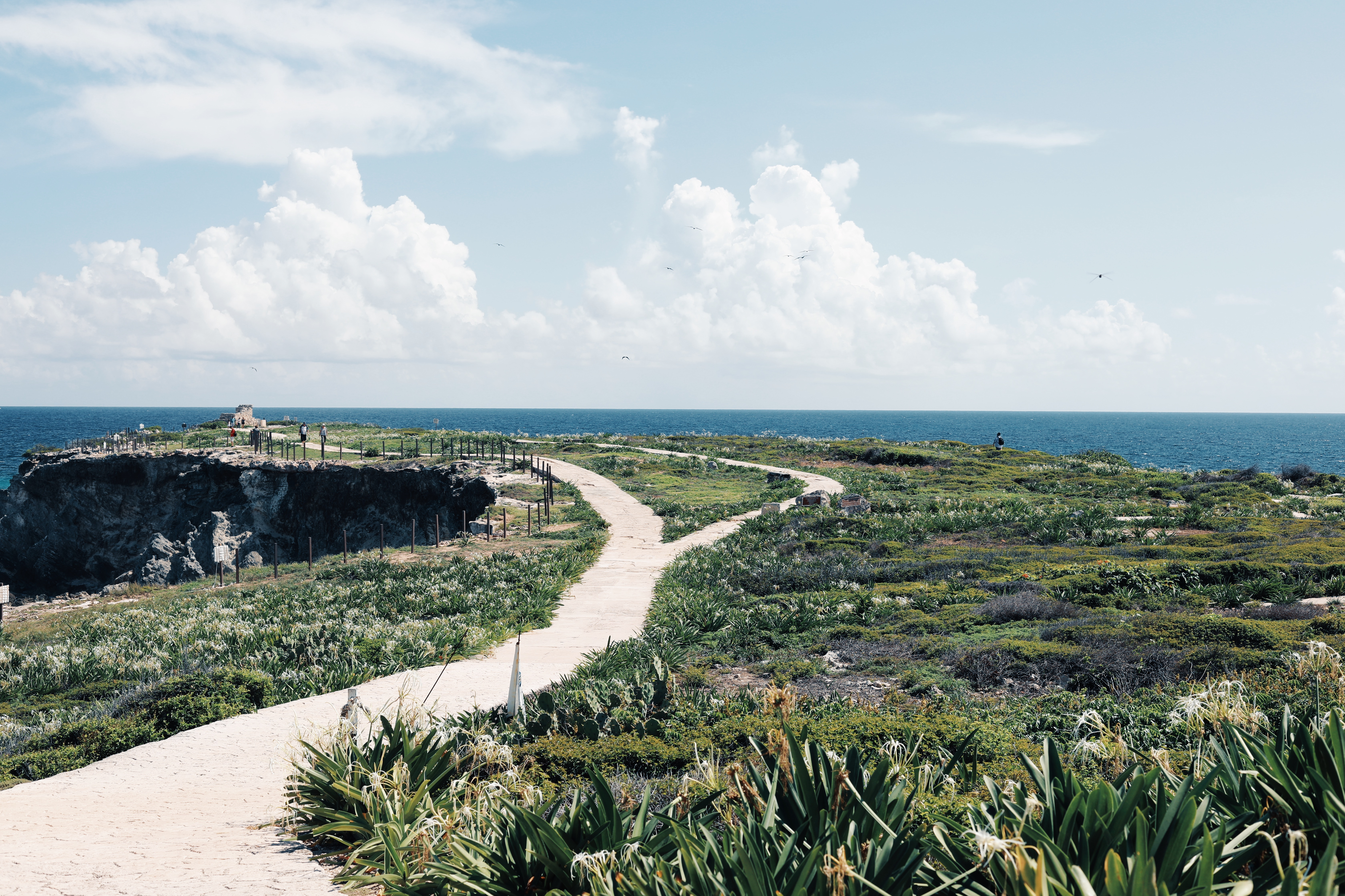 Punta Sur garden and panoramic views of the sea at Isla Mujeres, Mexico